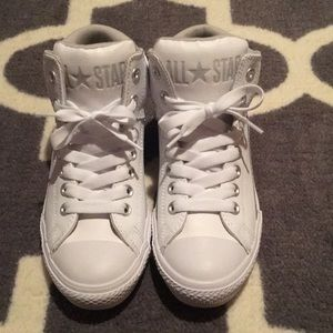 Converse White Leather High Street Hi Tops 6
